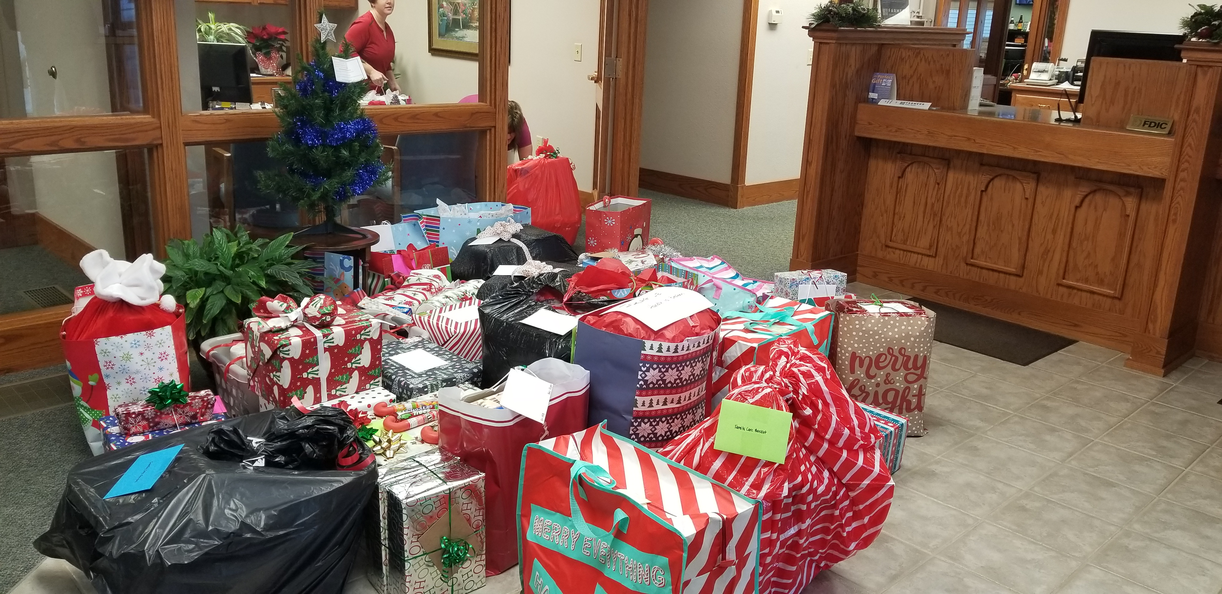 Season of Giving. Westmoreland branch fills with gifts for the Giving Tree.