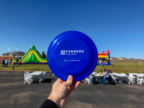Branded Farmers State Bank Frisbee.