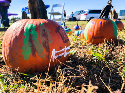 Guests painted pumpkins to prepare for Halloween!
